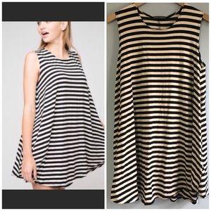 Brandy Melville striped Alena swing dress one size